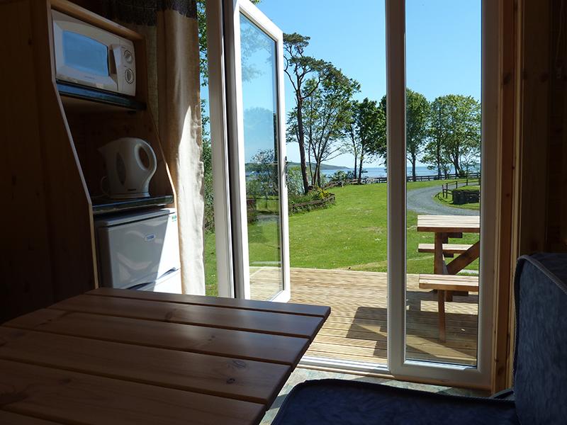 Seaward glamping cabin